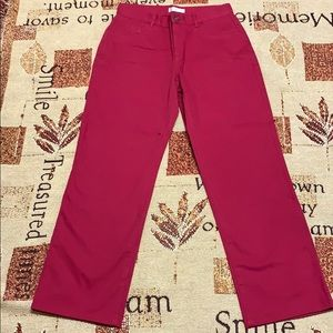 Christopher&banks New Red Jeans Pants Embroidered4